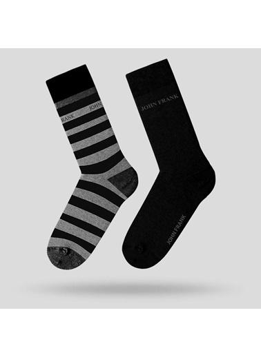 John Frank 2'li Çorap Siyah